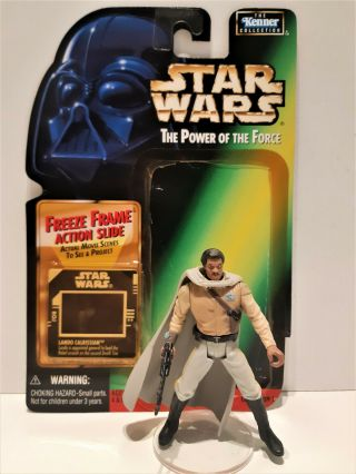 Star Wars 1997 Lando Calrissian General Loose Complete With Backing Card
