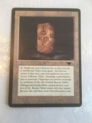 Bronze Tablet Normal English Magic The Gathering Antiquities Card Mtg