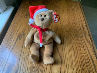 Retired Ty Beanie Baby 1997 Holiday Teddy Bear 1996) Style 4200