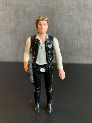 Vintage Star Wars 1977 Han Solo Small Head Variant Complete Gun Coo Hk