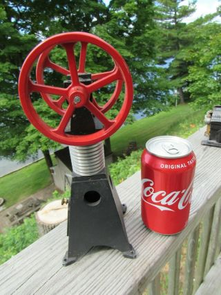 Vintage Dual Fly Wheel Hot Air Engine - Sterling Flame Licker - Eater