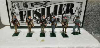 Fusilier Miniatures American Civil War Confederate March & Officer Rare