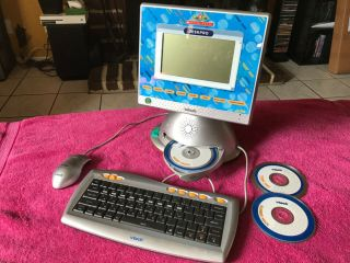 Vtech Deskpro Play Scholastic Learning Game Home Computer With Keyboard & Mouse