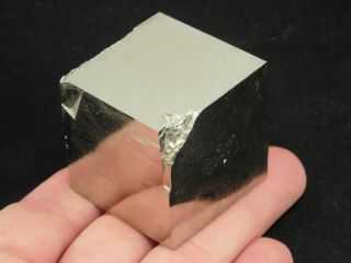 A Big And 100 Natural Cubic Pyrite Crystal Cube From Spain 294gr