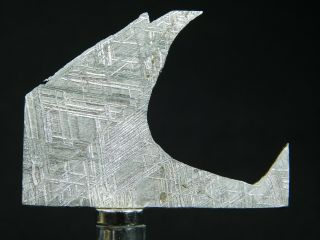 A Neat Shape On This Etched Muonionalusta Meteorite Found In Sweden 12.  0gr