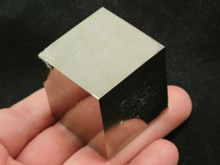 A Big And 100 Natural Cubic Pyrite Crystal Cube From Spain 273gr