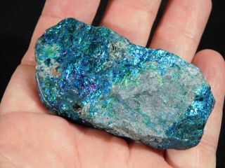 A Vivid Teal/blue Peacock Copper Or Chalcopyrite Or Peacock Ore 131gr