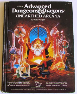 Ad&d Unearthed Arcana Advanced Dungeons & Dragons Tsr 1985 1st Edition 1st Print