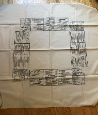 Vintage Cloth Bridge Rules Tablecloth Card Games