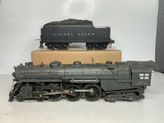 Lionel Trains Prewar O Gauge No 763e Hudson Steam Engine & 2426w Whistle Tender