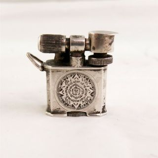Vintage Mexico Sterling Silver Miniature Lift Arm Lighter