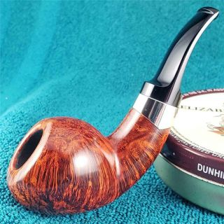 Unsmoked S.  Bang Un Silver Adorned Thick Apple Freehand Danish Estate Pipe