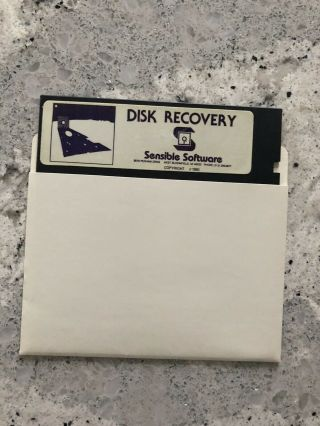 Vintage Software Disk Recovery By Sensible Software Apple Ii Series Rare