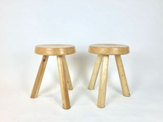 Stools By Charlotte Perriand For Les Arcs,  France 1960s
