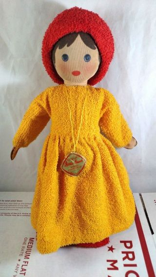 Vintage Kathe Kruse Modell Hanne Doll Made In Germany Terry Cloth Soft