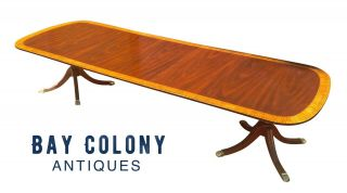 20th C Federal Style Councill Craftsmen Mahogany 11 Foot Dining / Banquet Table
