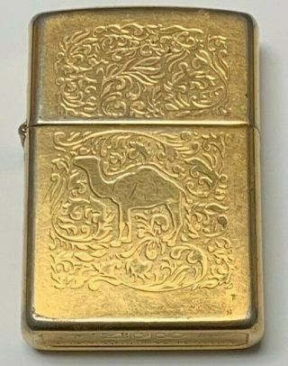Vintage Zippo 1995 Camel Lighter | 22k Gold Plated Double Sided | Extremely Rare