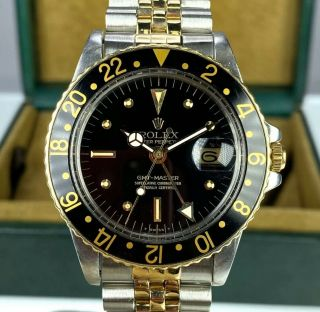 1978 Vintage Rolex Gmt Master 1675 Two Tone