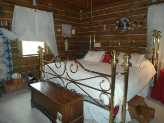 Solid Brass Bed King Size - Can Deliver In State Of Ohio For Additional Fee