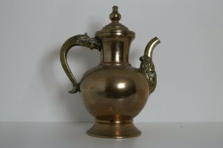 Antique 19th C Chinese Tibetan Teapot,  Large Bronze Copper Brass.