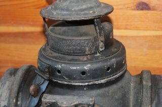 Antique Armspear Mfg Co NY Railroad Lantern Vintage Oil lamp Switch Train mount 2