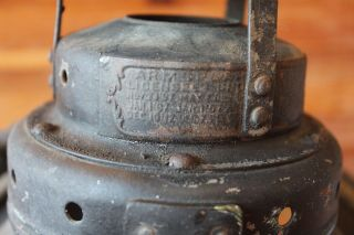 Antique Armspear Mfg Co NY Railroad Lantern Vintage Oil lamp Switch Train mount 6