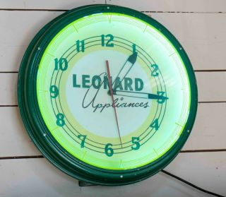 Vintage Neon Advertising Clock From The 50