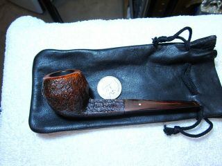 Dunhill Estate Cumberland 4104 Pipe,  With Pouch,  Cleaned & Ready To Smoke