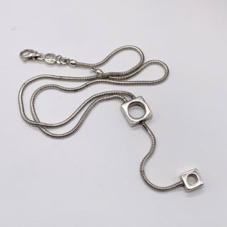 Vintage Solid Silver Sterling French Paris Designer Good Heavy Ladies Necklace