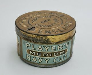 Vintage Pipe Tobacco Tin Player's Medium Cut England