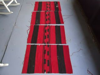 Early And Great Antique Navajo Chiefs Blanket Sections