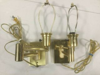 2 Vintage Swing Out Wall Lamps