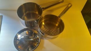 Vintage Royalty Tools Of The Trade Stainless Steel Steamer