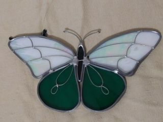 Vintage Stained Glass Butterfly Sun Catcher.