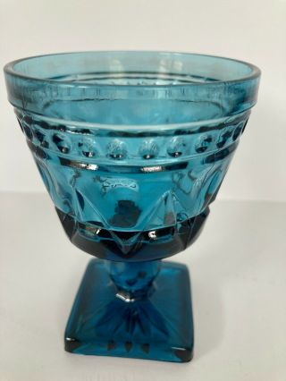 Vintage Indiana Glass Blue Colony Park Lane Pattern Pressed Glass Price Per Ea.