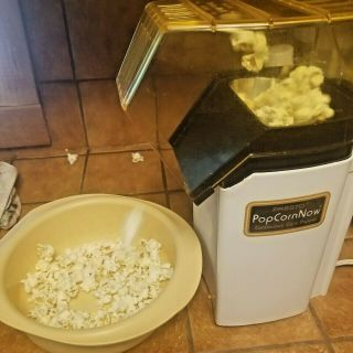 Vintage Presto® Popcorn Now Hot Air Continuous Corn Popper Model 0481004 -