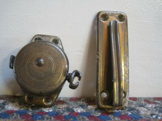 Vintage Brass Retractable Chain Door Guard (s - B Mfg.  Co) Security