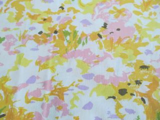 Jc Penney Vtg Fashion Manor Pennprest Abstract Flowers Floral Flat Full Sheet M