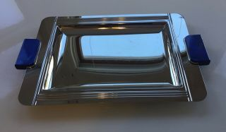Vintage Couzon Acier Inox 18/10 Stainless Steel Serving Tray,  France,