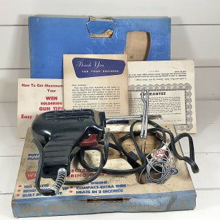 Vintage Wen Model 100k Electronic Soldering Gun Kit