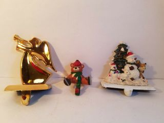 Vintage Misc Christmas Stocking Hangers Holders - You Choose -