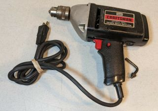 """Vintage Craftsman Sears 3/8"""" Reversible Corded Electric Drill Model 315.  10510"""