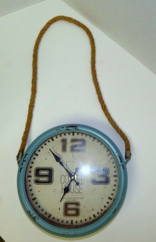 """Retro Vintage Style Coffe House Fresh Brewed Coffee Served Here 9 """" Wall Clock"""