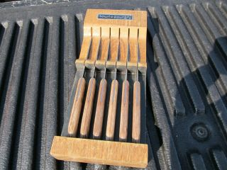 Vintage Town & Country Hanging Steak Knife Set By Washington Forge 6 Knives