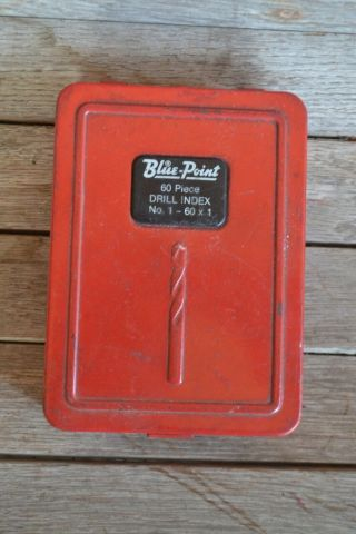 Vintage Blue Point Snap On Drill Index