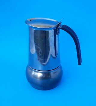 Bialetti Kitty Induction Stove Top Espresso Coffee Maker Stainless Steel Vintage
