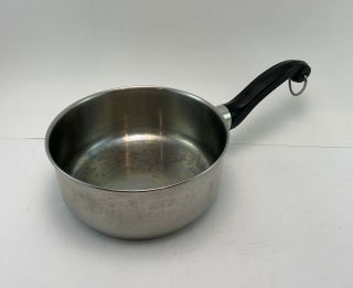 """Vintage Farberware Stainless Steel Aluminum Clad 1.  5qt Pot,  No Lid Nyc - Usa 7""""dia"""
