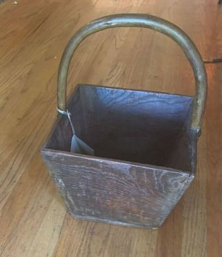 Home Decor Primitive / Rustic Chinese Rice Scoop (wood Handled Basket).