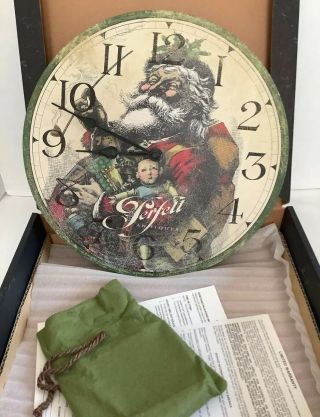 The Perfetts Antique Christmas Clock - Moment In Time From The Howard Miller Co.