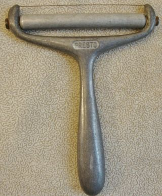 Vintage Aluminum Presto Cheese Slicer With Roller
